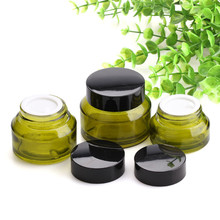 1pcs 15g/30g/50g Olive Green Cream Jar Refillable Bottles Oblique Shoulder Cream Empty Small Travel Makeup Containers alexika travel olive green