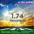 Lentes de alto Índice De 1.74 Lentes Asféricas Lente Miopía astigmatismo Lentes de Prescripción Ojo Claro Lente CR39 Lente Óptica Lente hmc emi