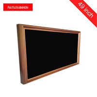 49inch solid wooden frame digital advertising player electronic photo frame for art museum