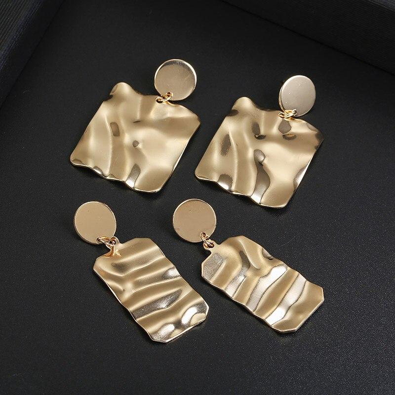 Metal Multicolored Drop Dangle Earrings For Women Geometric Wedding Party Vintage Earring Female Bohemian Jewellery 3