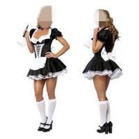 2016 Fashion Sexy Women Costumes Maid Uniforms Lolita Maid Dress COS Game Show Princess Maid Outfit