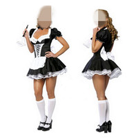 2016 Fashion Sexy Women Costumes Maid Uniforms Lolita Maid Dress COS Game Show Princess Maid Outfit