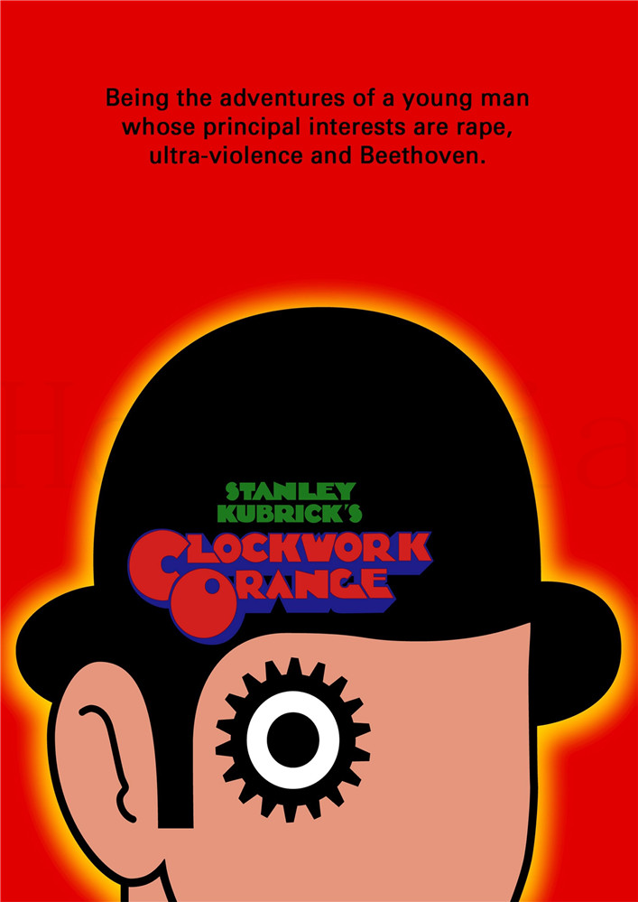 A Clockwork Orange Classic Posters Movie Wall Stickers White Coated Paper Prints Livingroom Bedroom Bar Home Art Brand in Wall Stickers from Home Garden