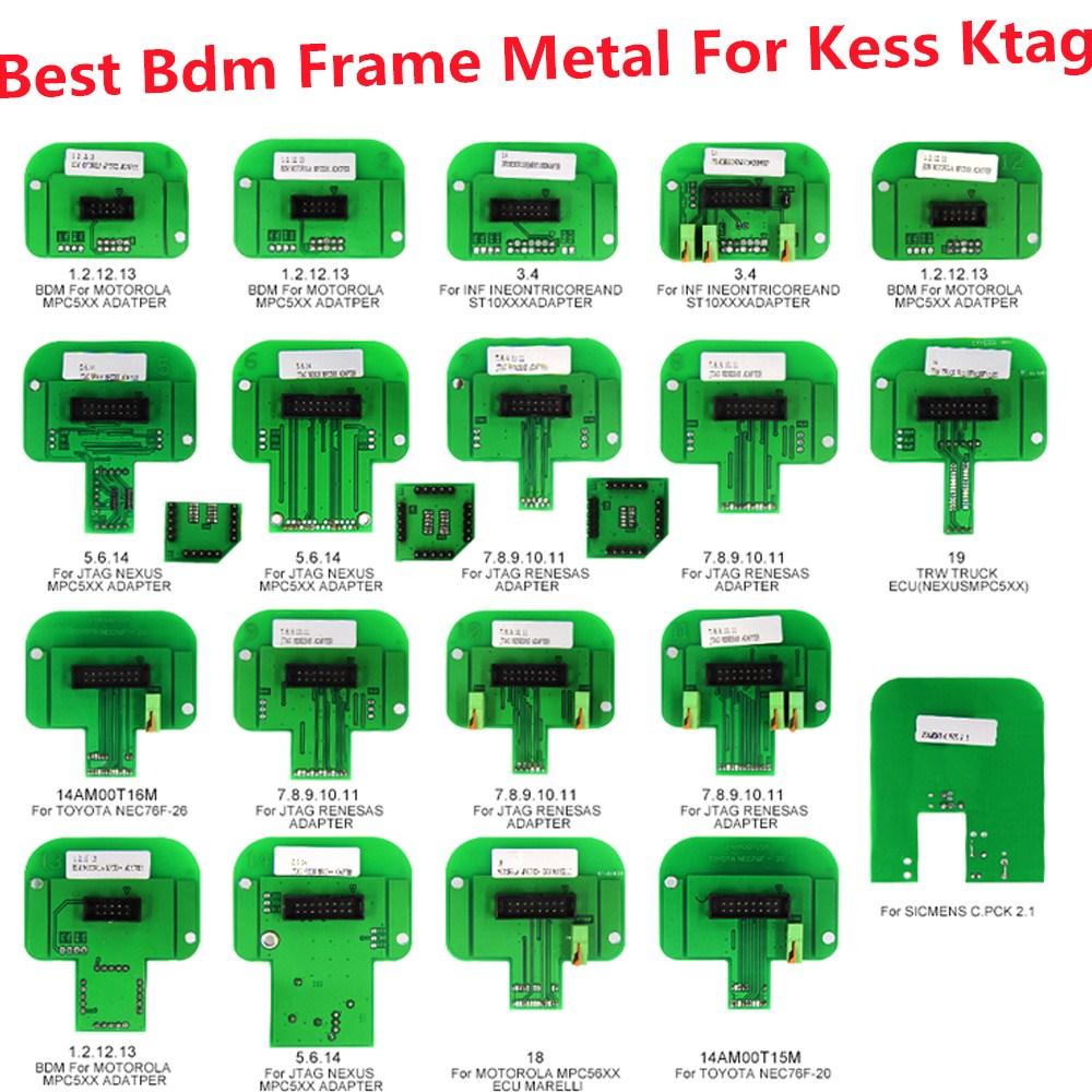 Best bdm frame metal For kess ktag 22pcs set BDM adapter Promotion KTAG KESS KTM Dimsport