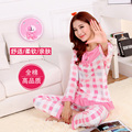 Cotton long sleeved T-shirt fall pajamas XL cotton pajamas cartoon autumn Home Furnishing suit