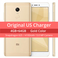 "Global Version Original Xiaomi Redmi Note 4 Prime 4GB RAM 64GB ROM Mobile Phone Snapdragon 625 Octa Core 5.5"" FHD 4100mAh FCC CE(Hong Kong)"