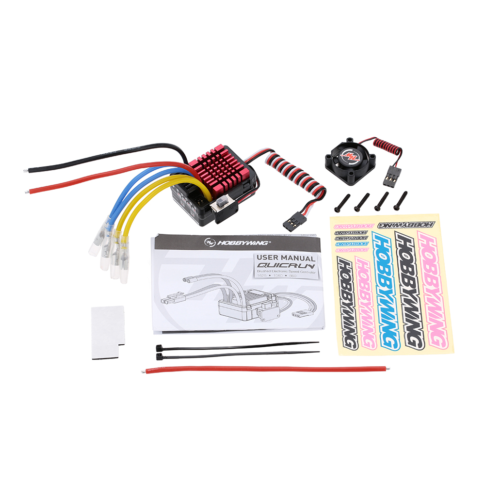 Hobbywing QuicRun WP-860 Dual Brushed Waterproof 60A ESC #860 For 1/8 RC шкатулка swiss kubik sk01 fa002 wp