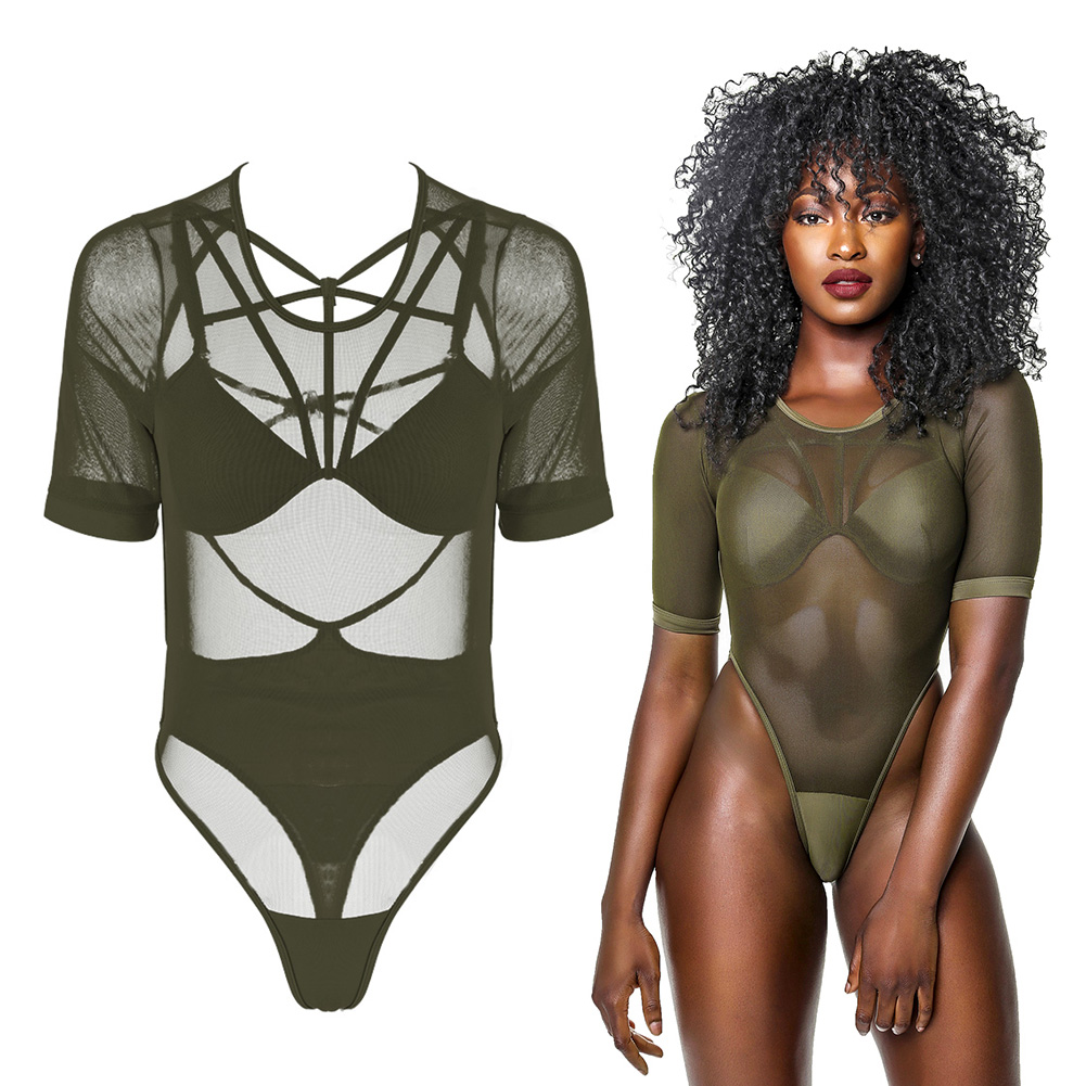 Super Sexy Mesh Hollow Summer Beach Suit Women One Piece Swimwear High Cut Swimsuit Halter Monokini Bikini Bathing Suit Bodysuit high neck one piece swimsuit women high cut thong swimwear sexy bandage trikini hollow out mesh bodysuit female zipper monokini
