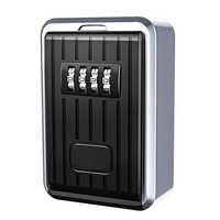 Lock-Box 4 Digit Kombination Wasserdichte Box Aluminium Legierung Wetter Beständig Schlüssel Hider mit Verstellbarem Code Schlüssel Lagerung Wand M