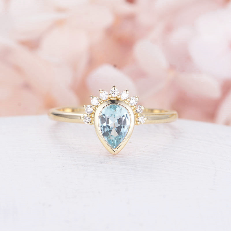 HOMOD 2019 New Vintage Crystal Rings for Women Cute Crown Rings Gold Finger Ring Female Wedding Jewelry Fits Valentine 39 s Day in Engagement Rings from Jewelry amp Accessories