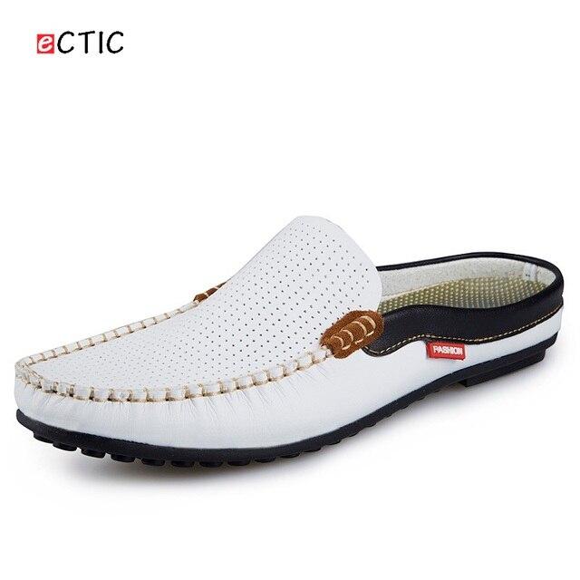 Leather Loafer Slip-On Shoe Breathable Perspiration for Men