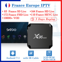 X96MINI DATOO IPTV France Spain Italy IP TV 1 Year Android 7.1 1G+8G/2G+16G French Arabic Turkey Portugal Box