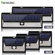 118/44 LED yüksek parlak güneş LED ışıkları güneş enerjili hareket sensörü lambası su geçirmez duvar aydınlatması dış kapılar için bahçe yolu