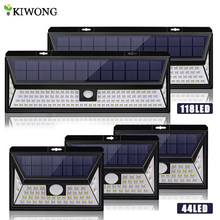 Luces LED solares de alto brillo, lámpara con Sensor de movimiento, impermeable, para puertas exteriores, camino de jardín, 118/44