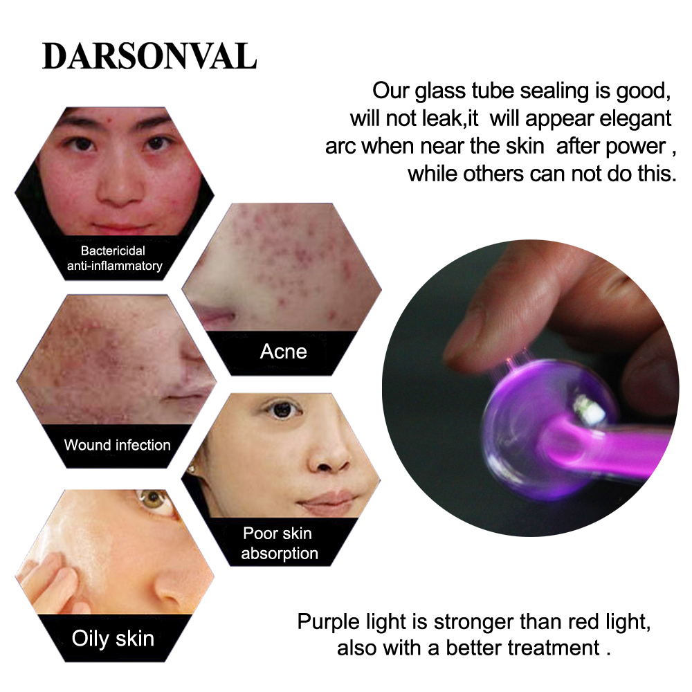 Image 5 - DARSONVAL Portable High Frequency Device Violet Ray Facial Machine Acne Remover Purple Light Machine For Face Face Massager SPA-in Face Skin Care Tools from Beauty & Health