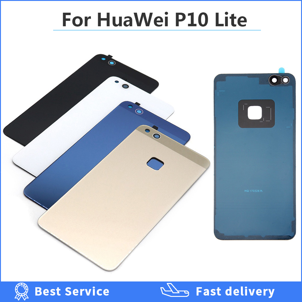 Back <font><b>Cover</b></font> for <font><b>Huawei</b></font> <font><b>P10</b></font> Lite <font><b>Battery</b></font> <font><b>Cover</b></font> Housing Door Repair Glass with adhesive tape for 5.2