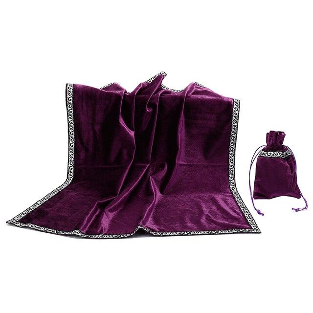 Retro tarot cards bag party table cloth board game tablecloth divination velvet 4