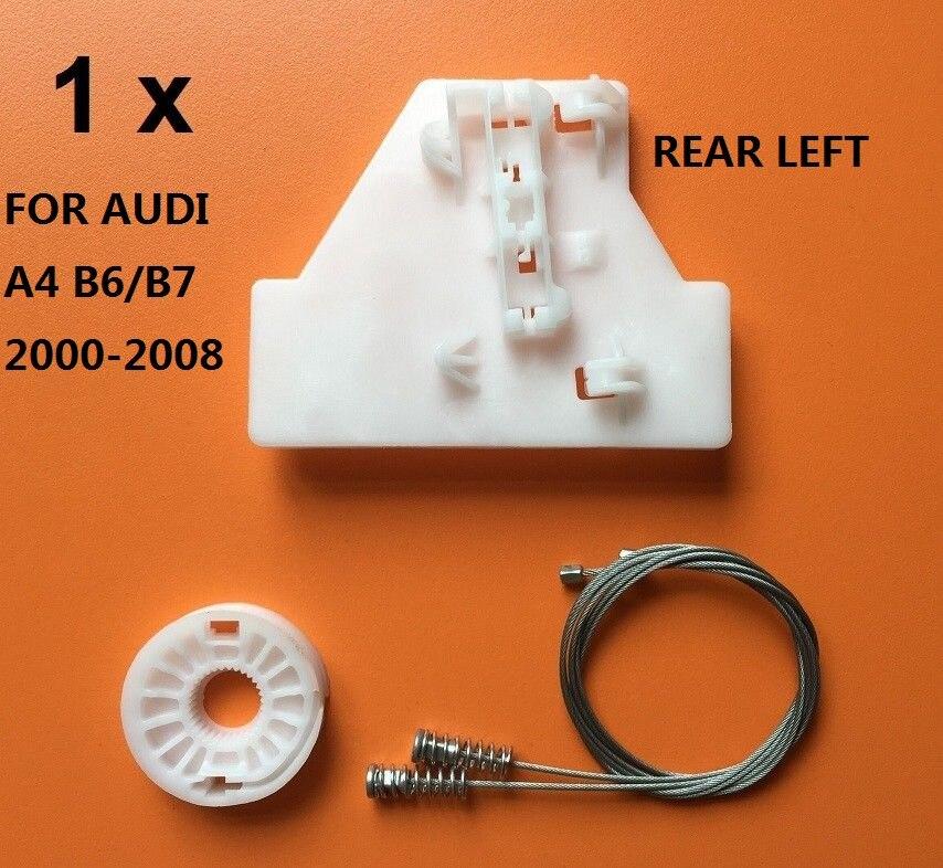 FOR AUDI A4 B6/B7 2000-2008 REAR LEFT SIDE WINDOW REGULATOR REPAIR KIT NEW