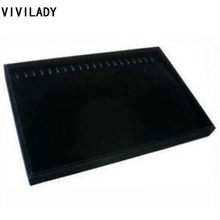 VIVILADY Hot Women Necklaces Bracelets Jewelry Displays Black Velvet Size 35*24cm Free Shipping md52 Bijoux Organizer Showcase(China)