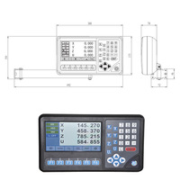 LCD Best 4 Axis Digital Readout Display Counter for Measuring Tool Lathe Machine Milling Machine