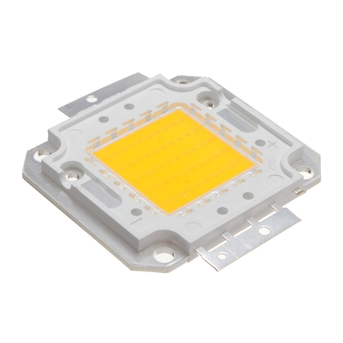 Hot Sale High Power 50W 4000LM Super Bright COB Spot LED Lamp Chips Light Bulb Pure/Warm White 2 Colors