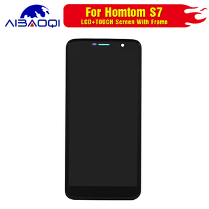Image 2 - New Touch Screen LCD display LCD screen for HOMTOM S7 screen with Frame replacement parts + removal tool + 3M adhesive