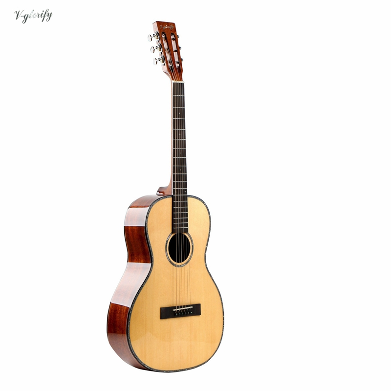 buy 38inch 18 fret oo acoustic guitar 16 string acoustic guitar with spruce top. Black Bedroom Furniture Sets. Home Design Ideas