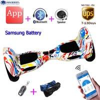 Auto Bilanciamento hoverboard bilanciamento del monociclo Intelligente da 10 pollici Samsung Batteria APP 2 ruote Skateboard elettrico alzarsi motorino