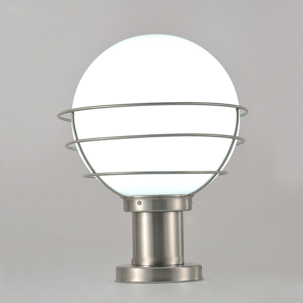 Modern Stainless Steel&Acrylic Garden/Yard/Fence Lamp Pillar Light ...