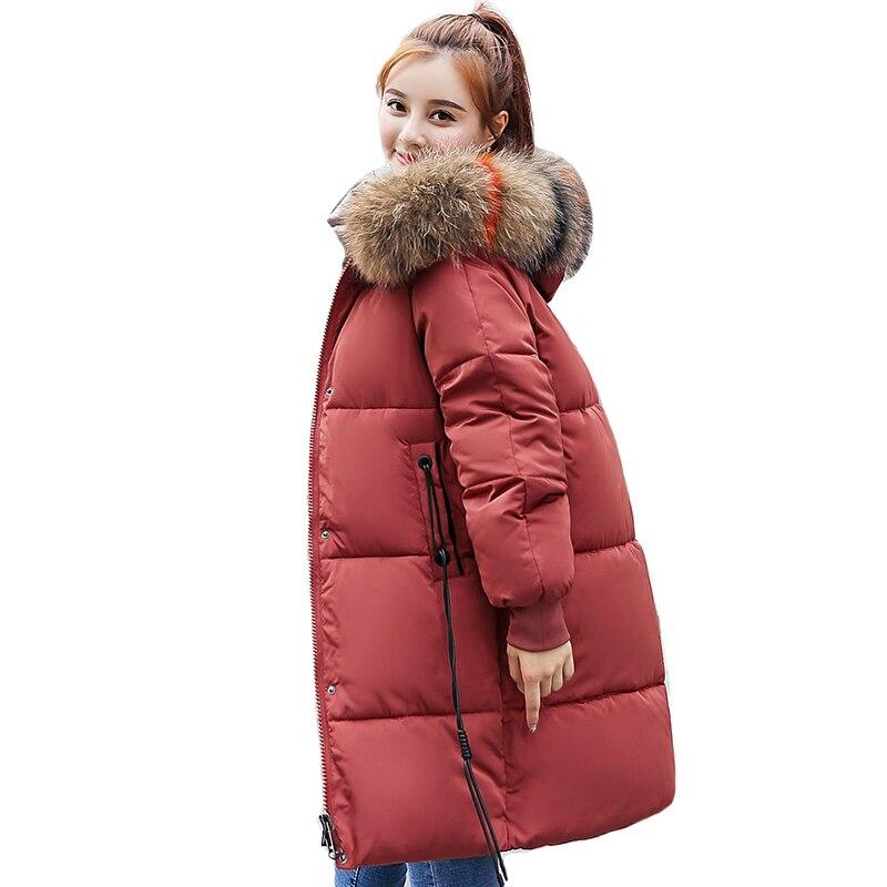 С меховым капюшоном 2018 высокое качество женские пальто Длинная парка теплые новые женские зимние Jackest Casaco Feminino Inverno пальто