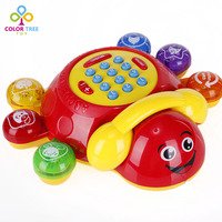 Baby Music Phone Toys Story Machine Early Learning Telephone Educational Toy Electronic Interactive Toy Gifts For