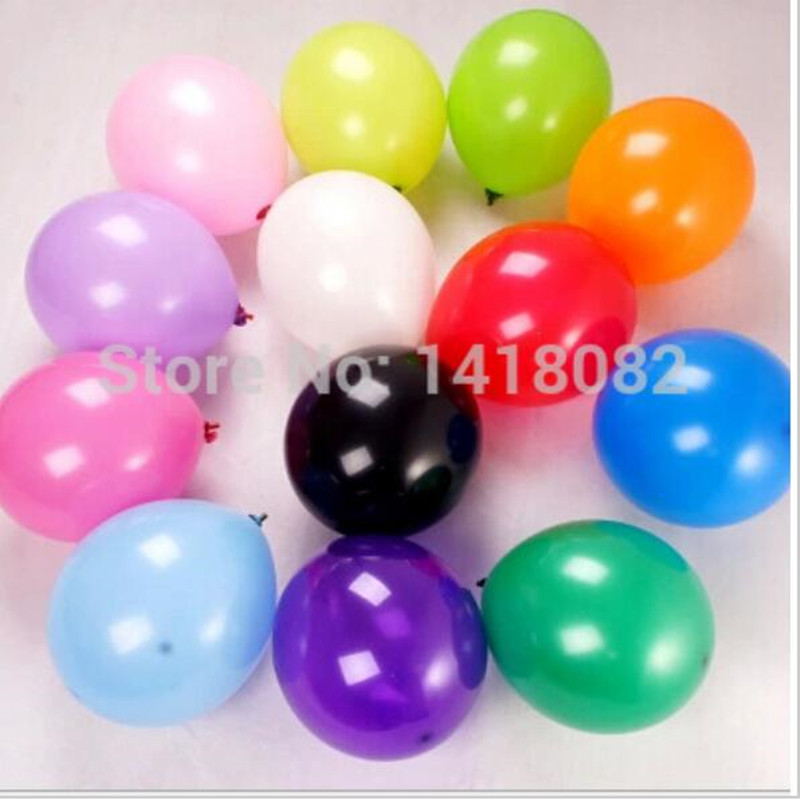 Hot sale12 inch 3.2g colorful birthday balloons 50pcs/lot Wedding Balloons Party