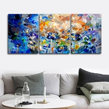 3 Panel Watercolor Graffiti Wall Artwork Abstract Canvas Painting Posters and Prints Living Room Nordic Home Decoration
