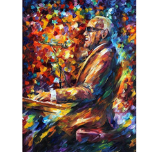 Hand Painted Landscape Abstract Musician Pianist Palette Knife Modern Oil Painting Canvas Art Living Room hallway Artwork Fine