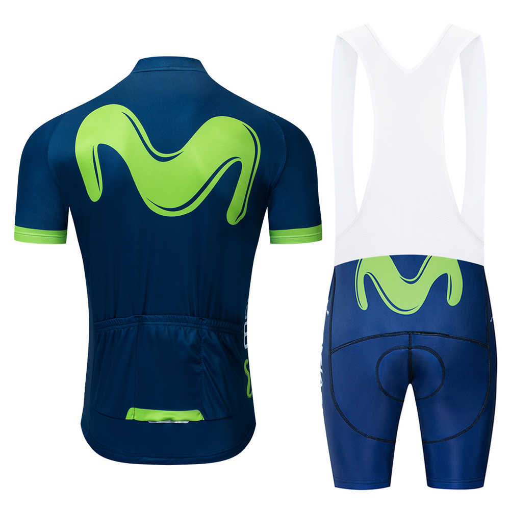 Movistar Cycling Jerseys Set 2019 Summer Equipment Short Sleeve Gel Pad Clothes Cycling Bicycle Clothes Ropa Ciclismo Bib Shorts