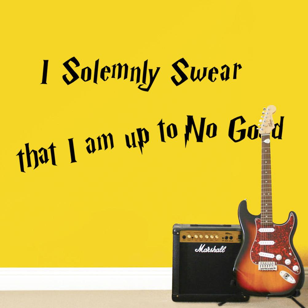 Generic Wall Sticker Quote I Solemnly Swear that I am up to No Good ...