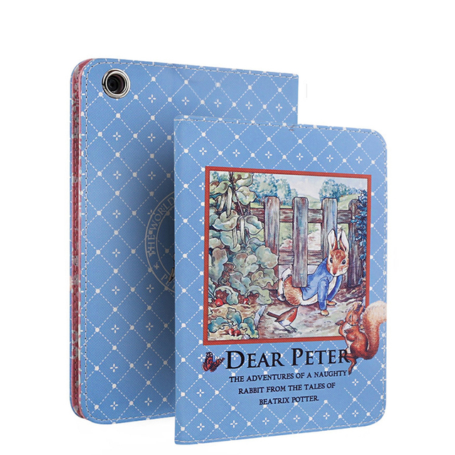 For iPad Air 2 Case Cute Peter Rabbit Ultra Slim Stand Cover for Funda iPad Air 2 Capa Para Christmas Gift for Children