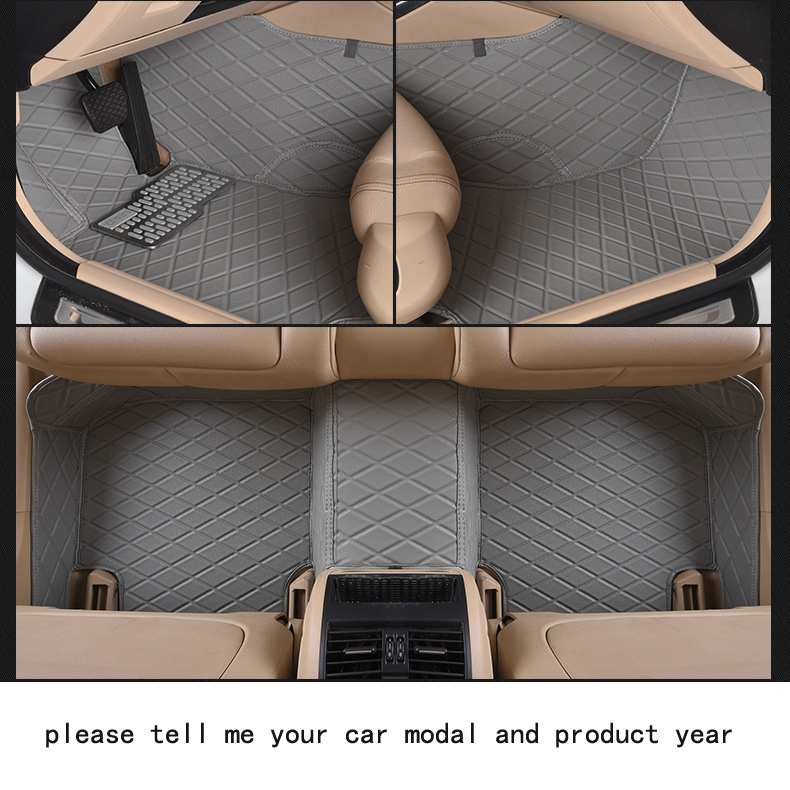 for AUDI Q5 firm pu leather Wear-resisting Car floor mats black Non-slip custom made waterproof car floor Carpets easy clean pu leather 5 7 seats car rear trunk mats backrest pad for new carens waterproof wear resisting easy clean