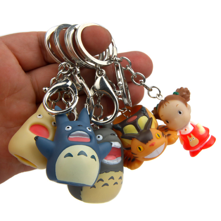 Zoeber Cute My Neighbor Totoro PVC Keychain Wowen Cartoon Ha