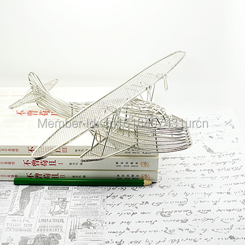 J30 비행기 중국 CLIPPER 장식 / 조각상 / 모델 스테인리스 손으로 만든 예술 공예 웨딩 & 생일 & 홈 & 사무실 & 선물 & 선물
