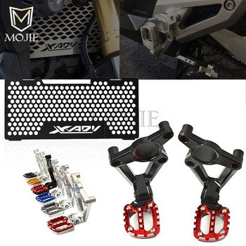 For HONDA XADV X-ADV X ADV 750 2017 2018 Motorcycle Accessories Rear Passenger Foot Pegs Radiator Guard Protector Grille Cover