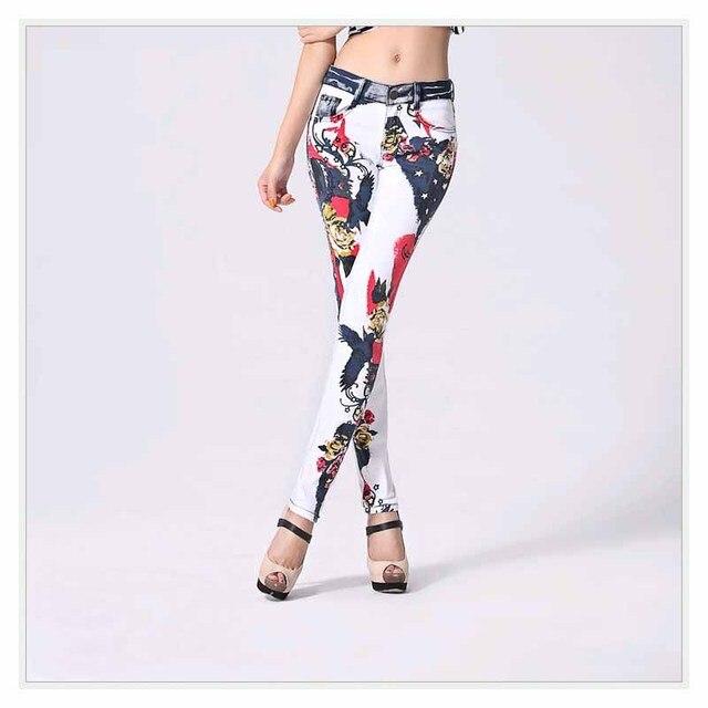 Aliexpress.com: Comprar Delgado elástico jeans Mujer casual blanco ...