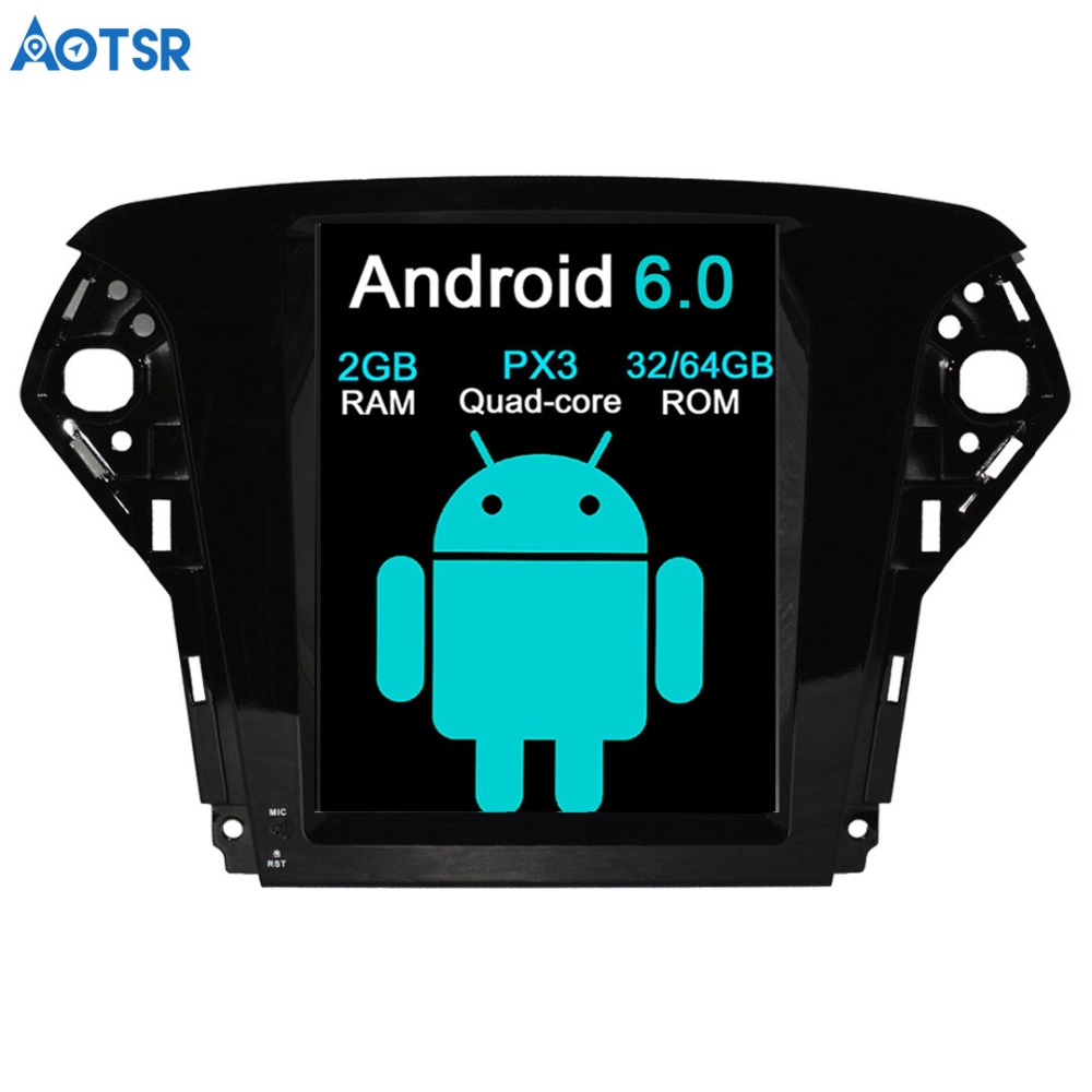 Aotsr <font><b>Android</b></font> 7.1 Tesla style <font><b>Car</b></font> <font><b>DVD</b></font> Player <font><b>GPS</b></font> <font><b>Navigation</b></font> For <font><b>Ford</b></font> <font><b>Mondeo</b></font> 2007-2012 Auto navi stereo headunit multimedia image