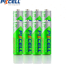 8 Pieces PKCELL Cycles1200times Pre-charged NIMH 1.2V  850mAh AAA Rechargeable Battery