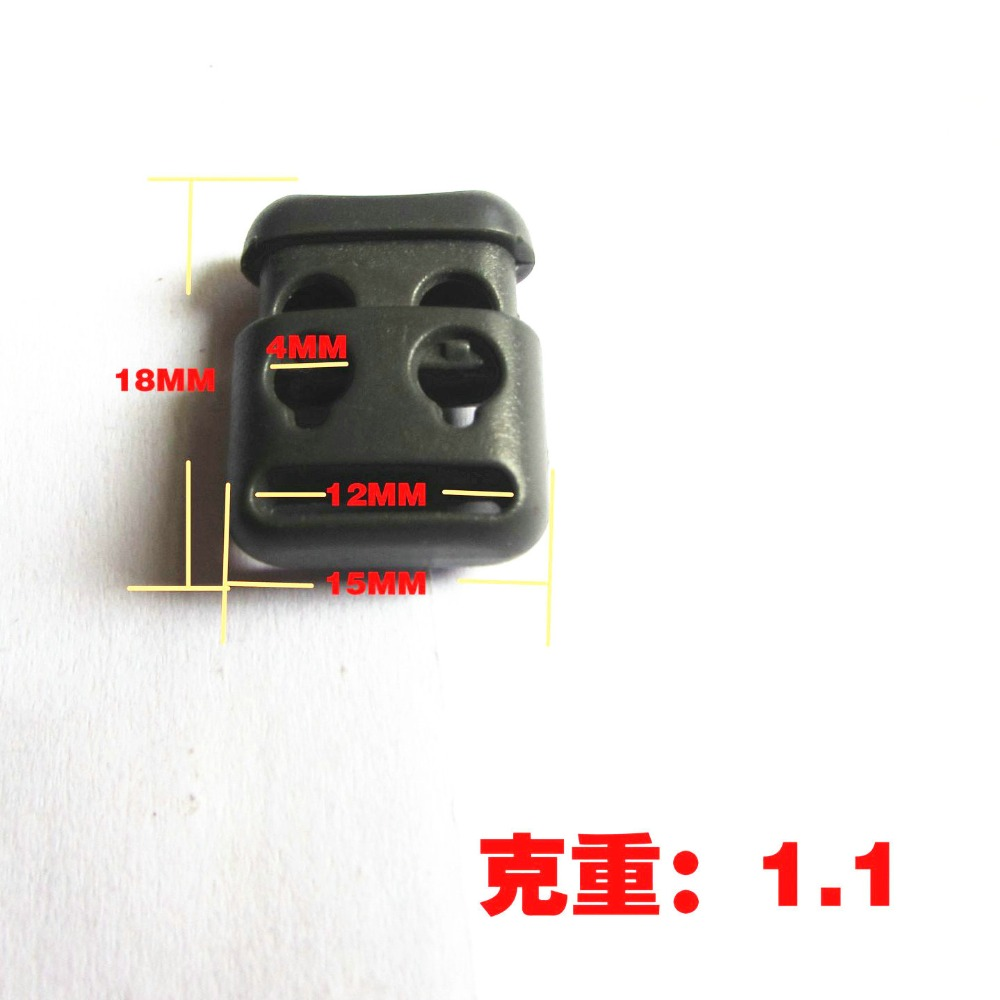 Double Hole Plastic Cord Locks End Spring Stop Toggle Stoppers