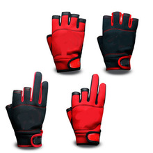 Free shipping High-qualityoutdoor breathable fishing gloves Half fingers cut water-proof sports
