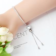 Colorful zircon beaded adjustable Sen bracelet Bangle heart personalized fashion ladies wild chain gift jewelry