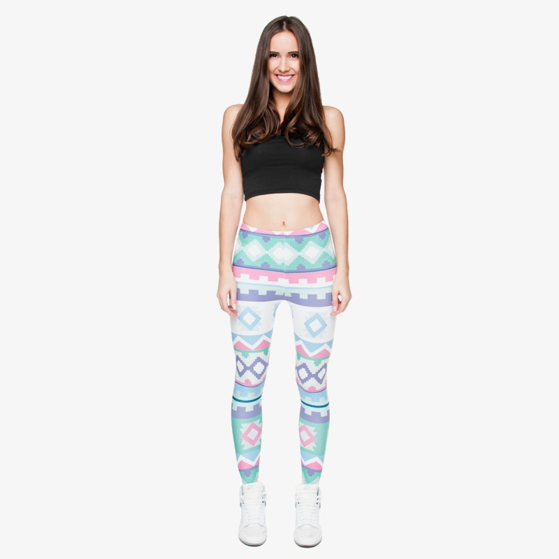 Zohra Brand New Fashion Aztec Printing legins Punk Women's Legging Stretchy Trousers Casual Slim fit Pants Leggings 16
