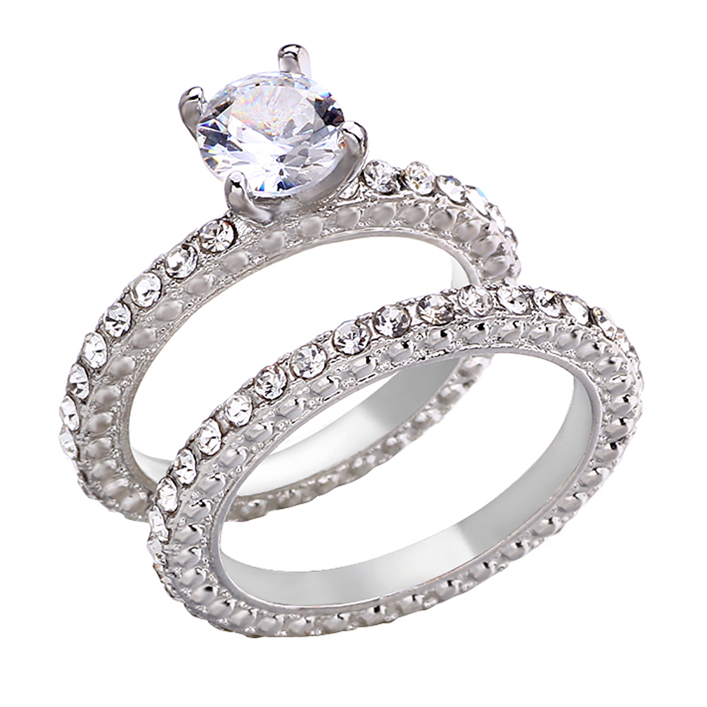Concesión Disfrazado Contrapartida  Anillo de compromiso de boda clásico GP de oro blanco/rosa de 18K con  Cristal SWAROVSKI|Obsequios para fiestas| - AliExpress