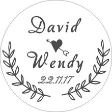 Personalized Wedding Sticker Labels Round Stickers Paper With Name Custom Engagement Label Decor